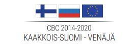 CBC-ohjelman logo, jossa Suomen, EU:n ja Venäjän liput